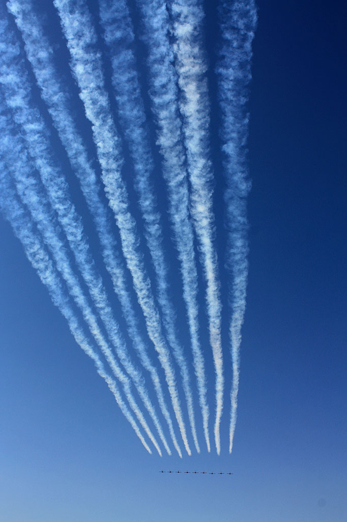 Airshow geometry. Snowbirds\