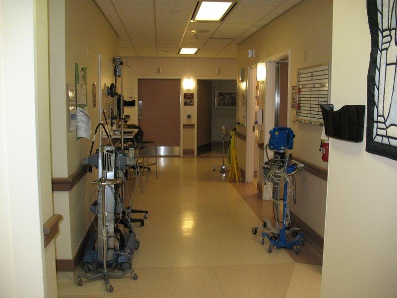 В коридорах приемного отделения