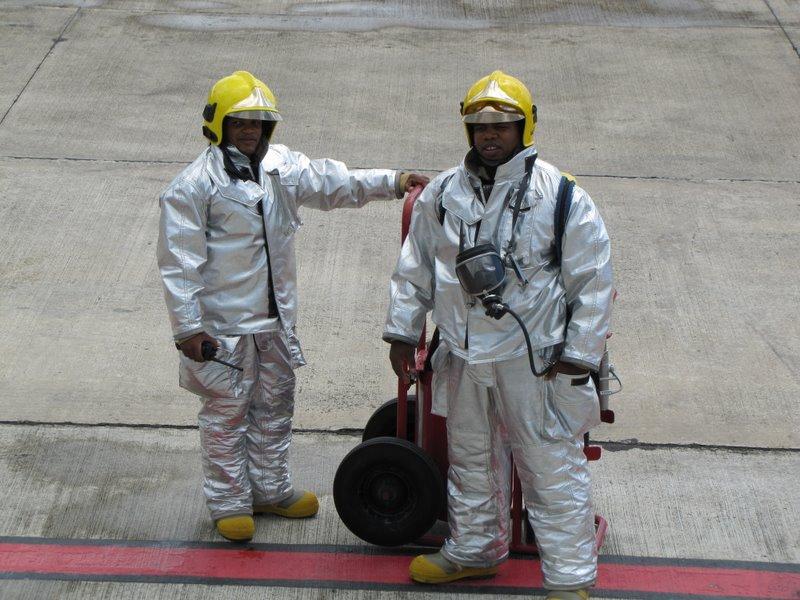 Пожарники за работой
