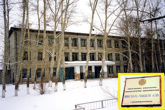 Школа моя, родная школа.. Трех-этажная школа, построенная в начале шестидесятых.
