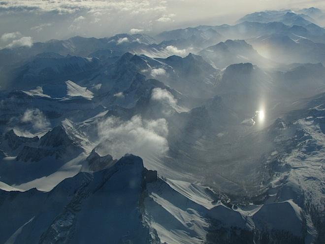 """Вот он, Солнечный Зайчик""""! :) Верный признак кристаллических облаков."""