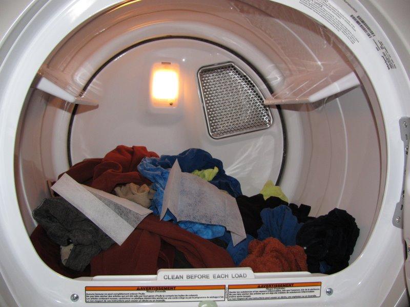 Салфетки софтенера в сушильной машине