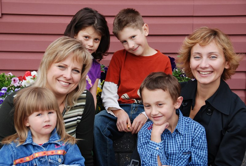 Яна, Екатерина и дети