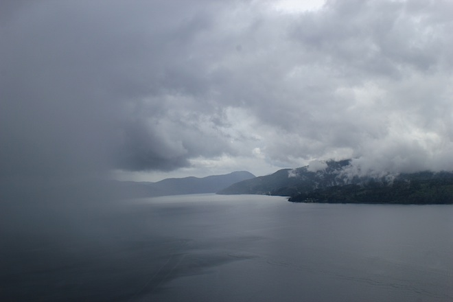 Такая погода стояла на острове пару дней наканунею