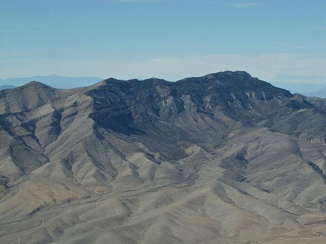 Potosi Mountain, 32 statute miles (51 km) southwest of Las Vegas.
